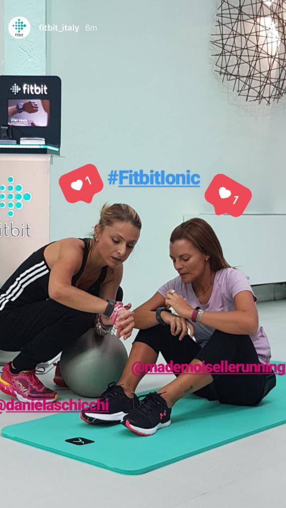Daniela Schicchi e Rossana Cuoccio, Fitbit Ionic