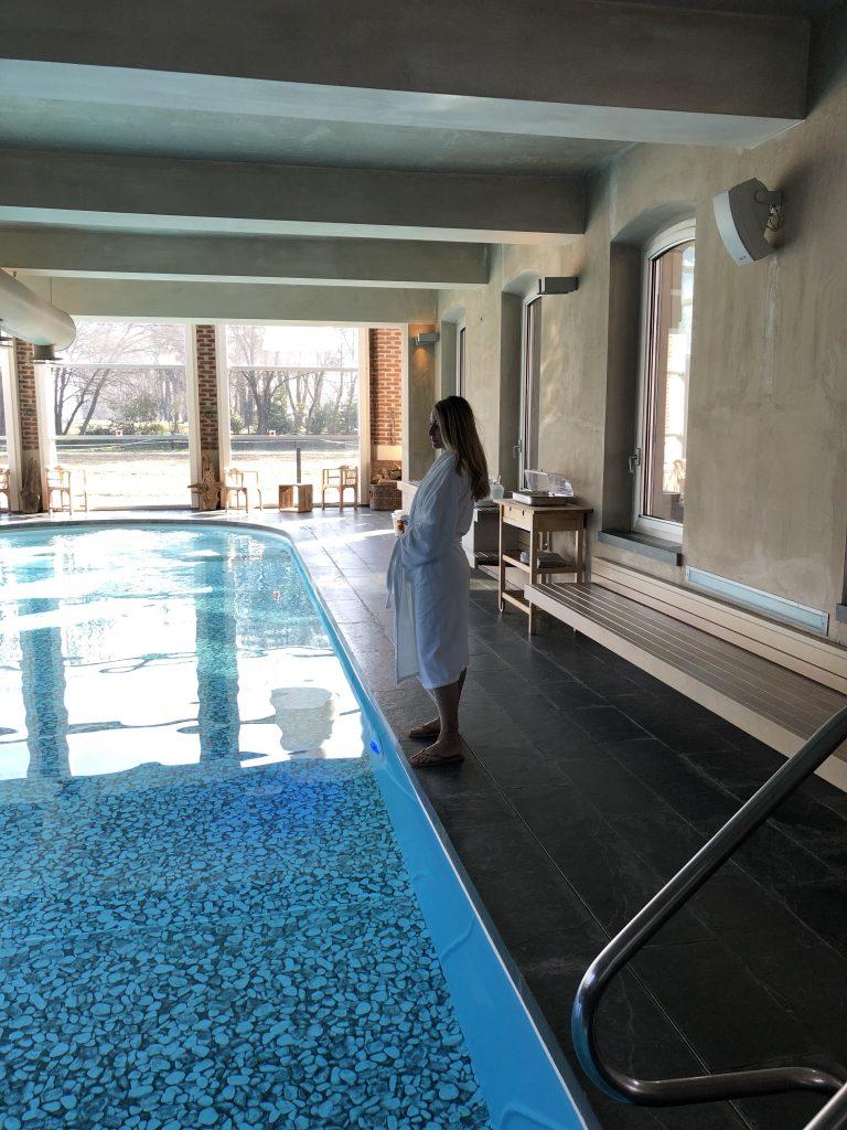Cascina Caremma la piscina della zona termale