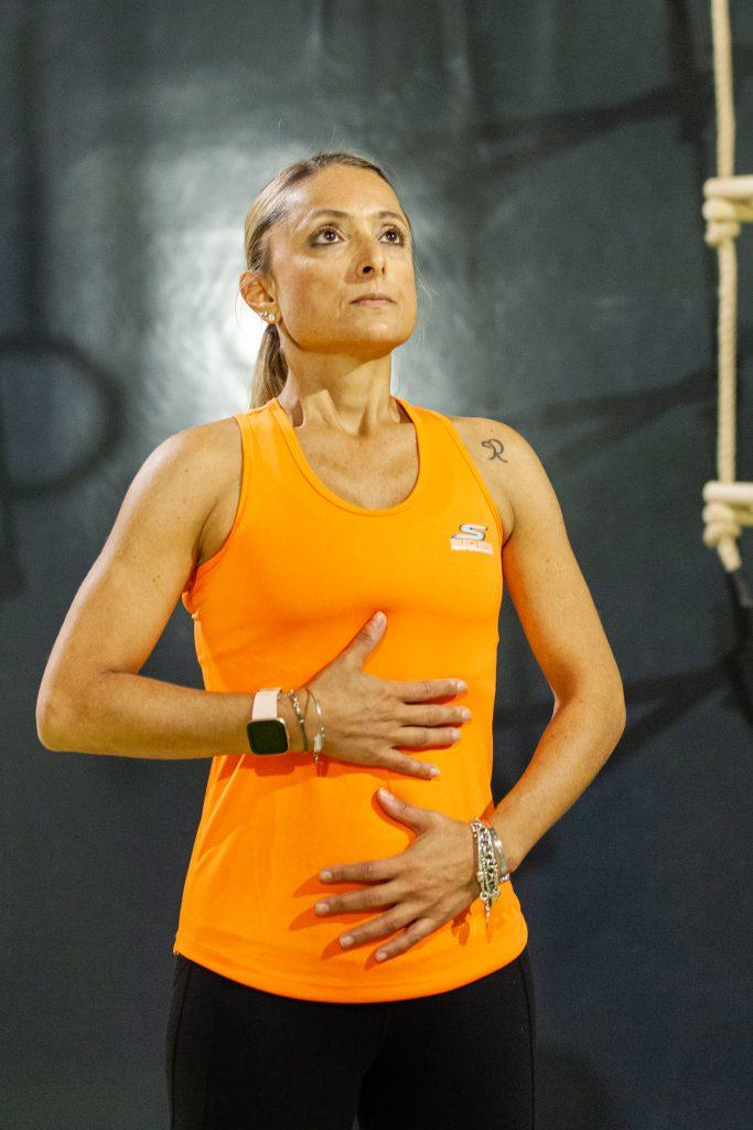 Fitbit Versa2 indossato da Daniela Schicchi durante l'allenamento