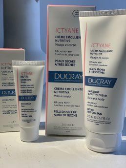 Ducray, trattamenti per il viso e il corpo nelle nuove formulazioni. Ictyane crema emolliente e Ictyane crema ricca per il viso